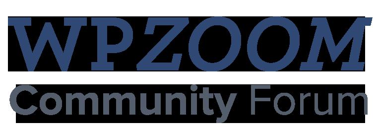 WPZOOM Community Forum